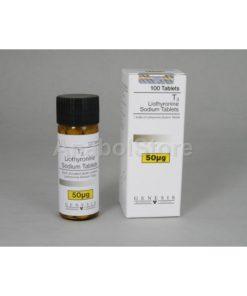 T3, Cytomel T3, Tiratricol, Liothyronine 100x50mcg Genesis